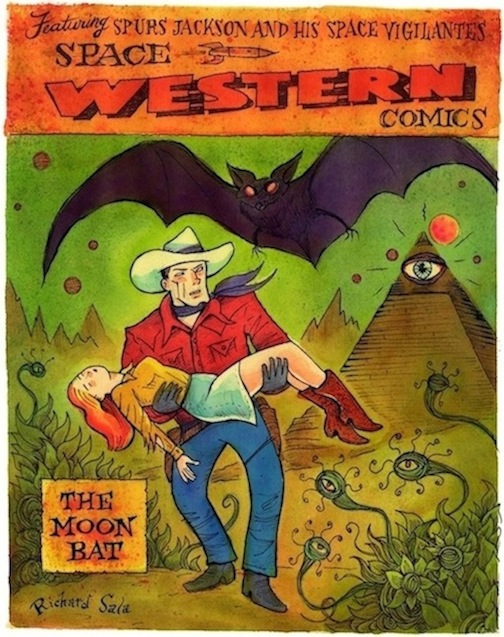 """Space Western Cover Re-creation"" is copyright ©2008 by Richard Sala.  All rights reserved.  Reproduction prohibited."