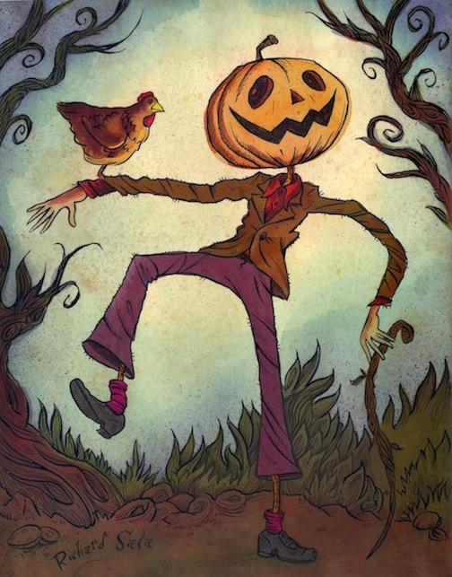 """Jack Pumpkinhead"" is copyright ©2008 by Richard Sala.  All rights reserved.  Reproduction prohibited."