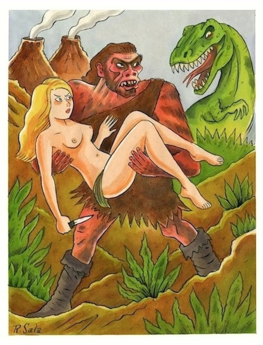 """Cave Girls of the Lost World #4"" is copyright ©2008 by Richard Sala.  All rights reserved.  Reproduction prohibited."