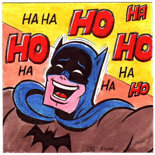 """Laughing Batman"" is copyright ©2008 by J.R. Williams.  All rights reserved.  Reproduction prohibited."