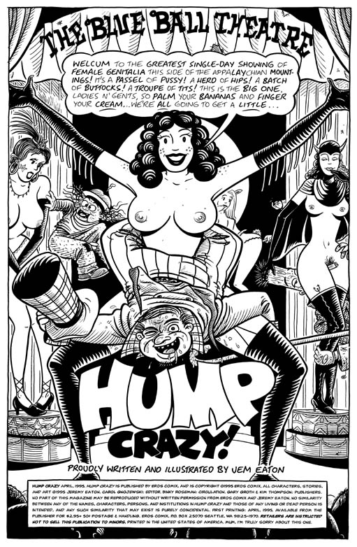 """HUMP CRAZY! #1 TITLE PAGE"" is copyright ©2008 by Jeremy Eaton.  All rights reserved.  Reproduction prohibited."