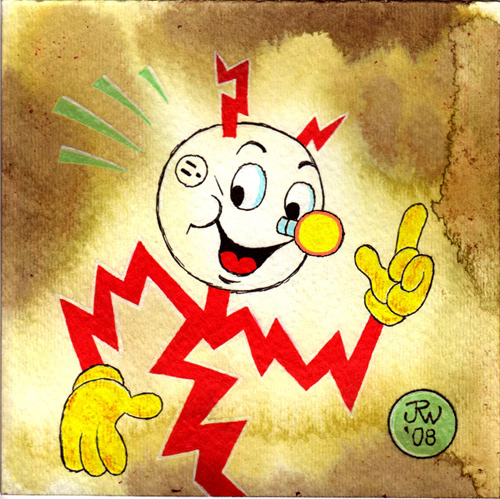 """Reddy Kilowatt"" is copyright ©2008 by J.R. Williams.  All rights reserved.  Reproduction prohibited."