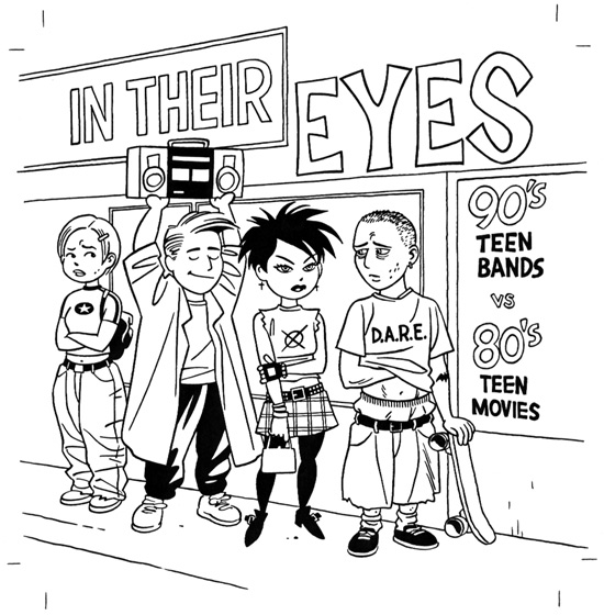 """CD cover: In Their Eyes"" is copyright ©2008 by Jaime Hernandez.  All rights reserved.  Reproduction prohibited."