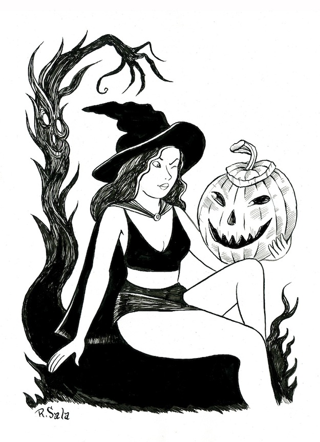 """Halloween Witch 18 - 01"" is copyright ©2008 by Richard Sala.  All rights reserved.  Reproduction prohibited."