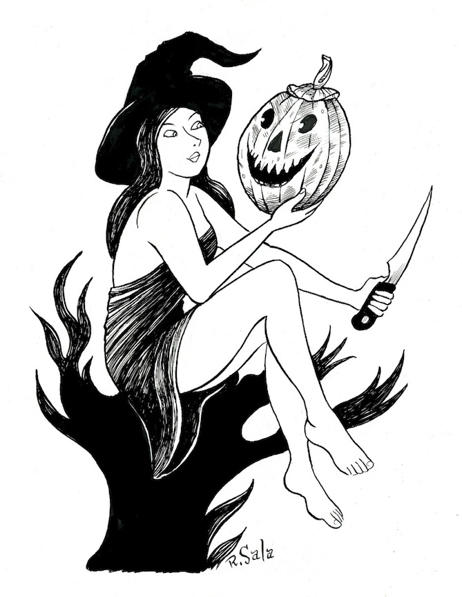 """Halloween Witch 18 - 02"" is copyright ©2008 by Richard Sala.  All rights reserved.  Reproduction prohibited."