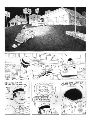 """Toothpaste Run page 3"" is copyright ©2008 by Robert Goodin.  All rights reserved.  Reproduction prohibited."