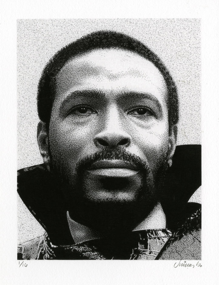 """MARVIN GAYE GICLEE PRINT"" is copyright ©2008 by Jim Blanchard.  All rights reserved.  Reproduction prohibited."