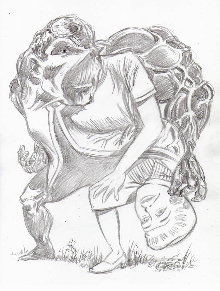 """CARTOON JUMBLE PENCIL - SWAMP THING & MARY WORTH"" is copyright ©2008 by Jeremy Eaton.  All rights reserved.  Reproduction prohibited."