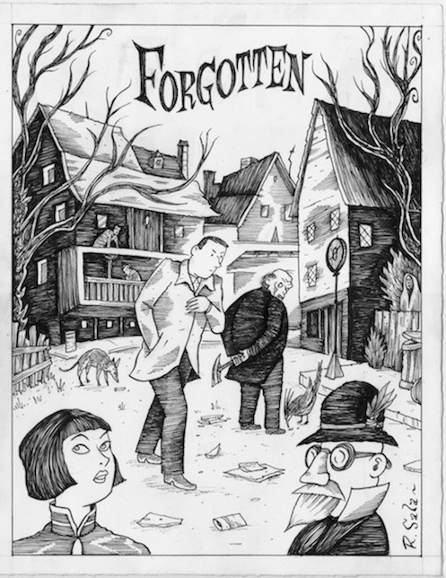 """Forgotten - p. 1"" is copyright ©2008 by Richard Sala.  All rights reserved.  Reproduction prohibited."