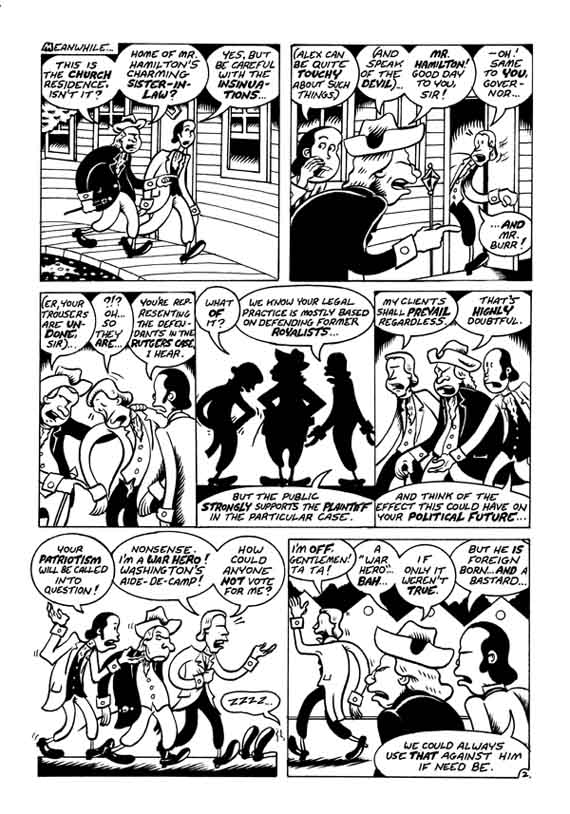 """A. Hamilton pg. 2"" is copyright ©2008 by Peter Bagge.  All rights reserved.  Reproduction prohibited."