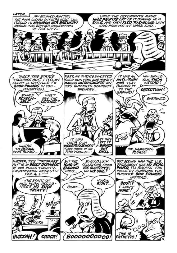 """A. Hamilton pg. 3"" is copyright ©2008 by Peter Bagge.  All rights reserved.  Reproduction prohibited."