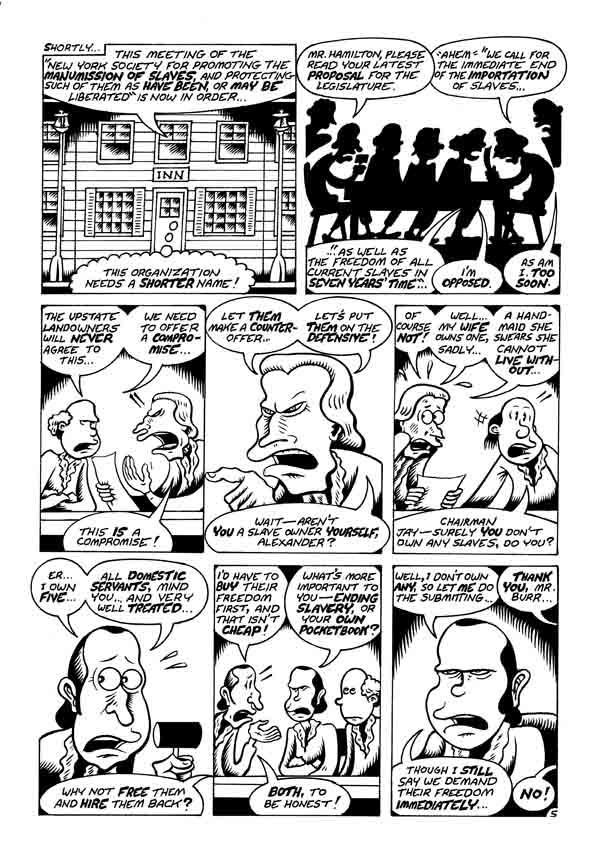 """A. Hamilton pg 5"" is copyright ©2008 by Peter Bagge.  All rights reserved.  Reproduction prohibited."