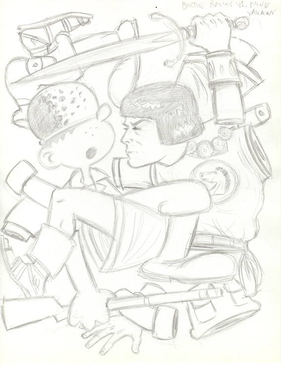 """CARTOON JUMBLE PENCIL-B. BAILEY & P. VALIANT"" is copyright ©2008 by Jeremy Eaton.  All rights reserved.  Reproduction prohibited."