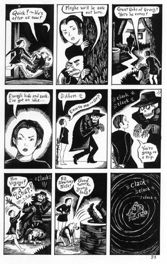 """Peculia - Evil Eye #2, p.23"" is copyright ©2008 by Richard Sala.  All rights reserved.  Reproduction prohibited."