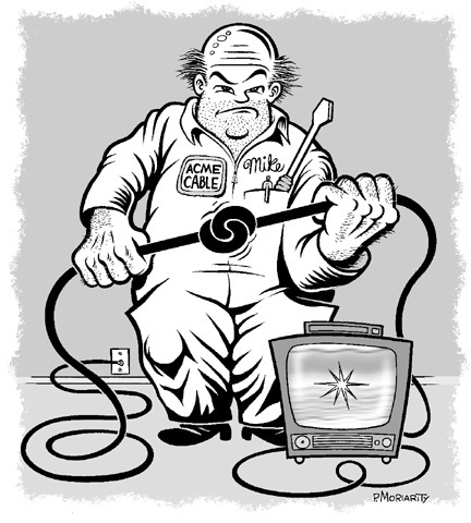 """Cable guy"" is copyright ©2008 by Pat Moriarity.  All rights reserved.  Reproduction prohibited."