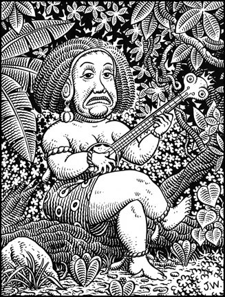"""STRANGE HINTERLUDE"" is copyright ©2008 by Jim Woodring.  All rights reserved.  Reproduction prohibited."