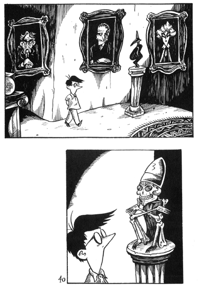 """Peculia & the Groon Grove Vampires p.40"" is copyright ©2008 by Richard Sala.  All rights reserved.  Reproduction prohibited."