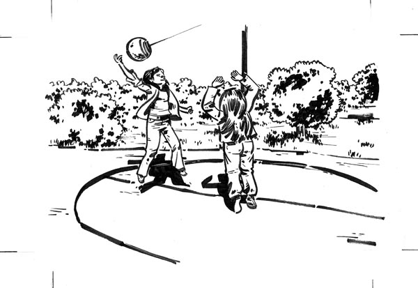 """tetherball game (from BLOOD ORANGE)"" is copyright ©2008 by Steven Weissman.  All rights reserved.  Reproduction prohibited."