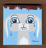 """Sad Bunny painting #2"" is copyright ©2008 by Kevin Scalzo.  All rights reserved.  Reproduction prohibited."