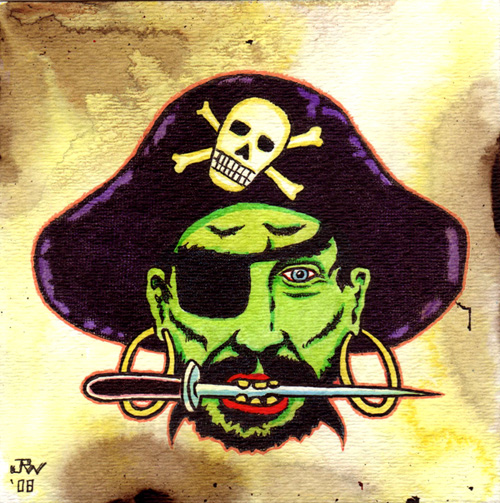 """Pirate"" is copyright ©2008 by J.R. Williams.  All rights reserved.  Reproduction prohibited."