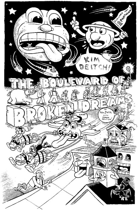 """'Boulevard of Broken Dreams' poster art"" is copyright ©2008 by Kim Deitch.  All rights reserved.  Reproduction prohibited."