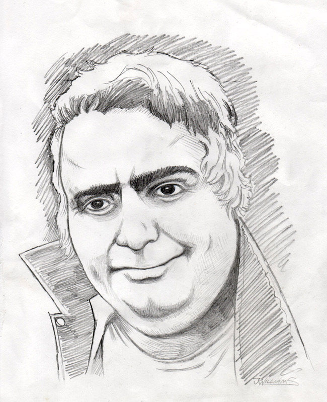 """Daniel Johnston pencil sketch"" is copyright ©2008 by J.R. Williams.  All rights reserved.  Reproduction prohibited."