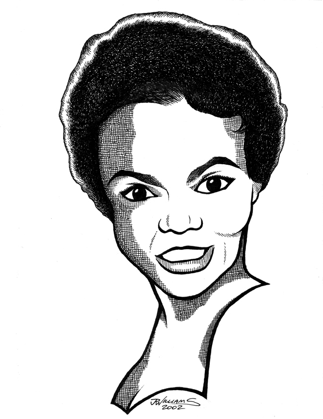 """Eartha Kitt"" is copyright ©2008 by J.R. Williams.  All rights reserved.  Reproduction prohibited."