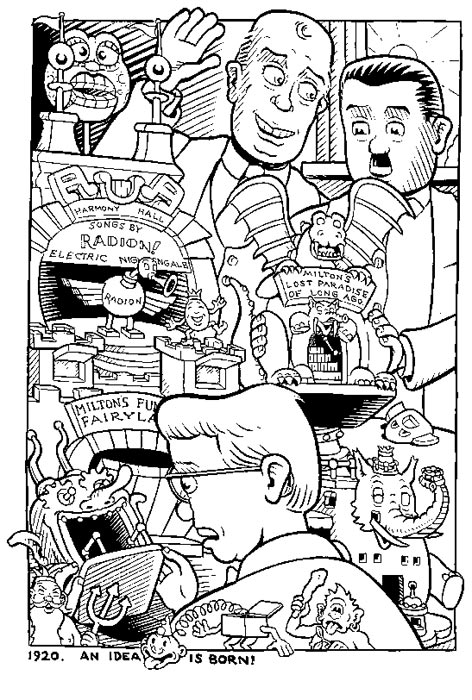 """'Waldo World' back cover"" is copyright ©2008 by Kim Deitch.  All rights reserved.  Reproduction prohibited."