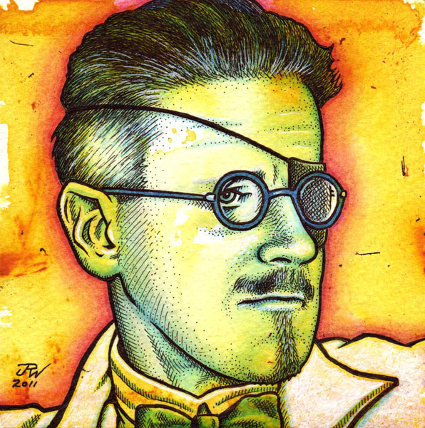 """James Joyce"" is copyright ©2008 by J.R. Williams.  All rights reserved.  Reproduction prohibited."