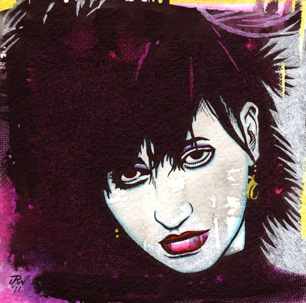 """Lydia Lunch"" is copyright ©2008 by J.R. Williams.  All rights reserved.  Reproduction prohibited."