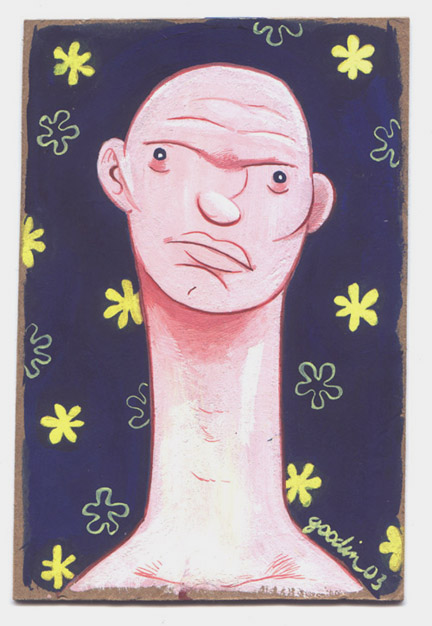 """Postcard Painting - Long Necked Guy"" is copyright ©2008 by Robert Goodin.  All rights reserved.  Reproduction prohibited."