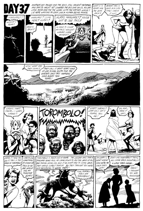"""Love and Rockets issue 2 p.29"" is copyright ©2008 by Jaime Hernandez.  All rights reserved.  Reproduction prohibited."