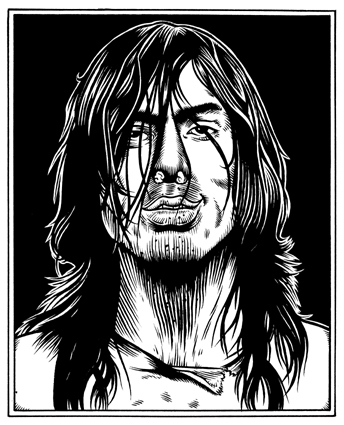 """Andrew WK portrait"" is copyright ©2008 by Eric Reynolds.  All rights reserved.  Reproduction prohibited."