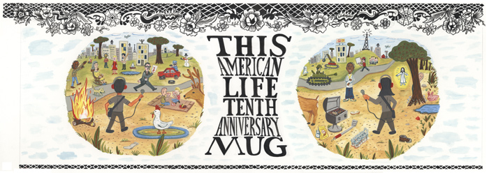 """This American Life mug - original painted art"" is copyright ©2008 by David Heatley.  All rights reserved.  Reproduction prohibited."