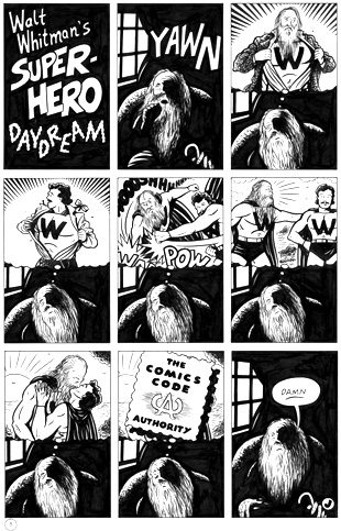 """WHOTNOT #1: WALT WHITMAN'S SUPER-HERO DAYDREAM"" is copyright ©2008 by Jeremy Eaton.  All rights reserved.  Reproduction prohibited."