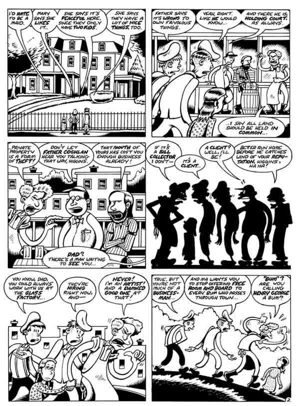 """Woman Rebel Page 2"" is copyright ©2008 by Peter Bagge.  All rights reserved.  Reproduction prohibited."