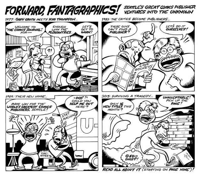 """Tribute to Kim Thompson strip"" is copyright ©2008 by Peter Bagge.  All rights reserved.  Reproduction prohibited."