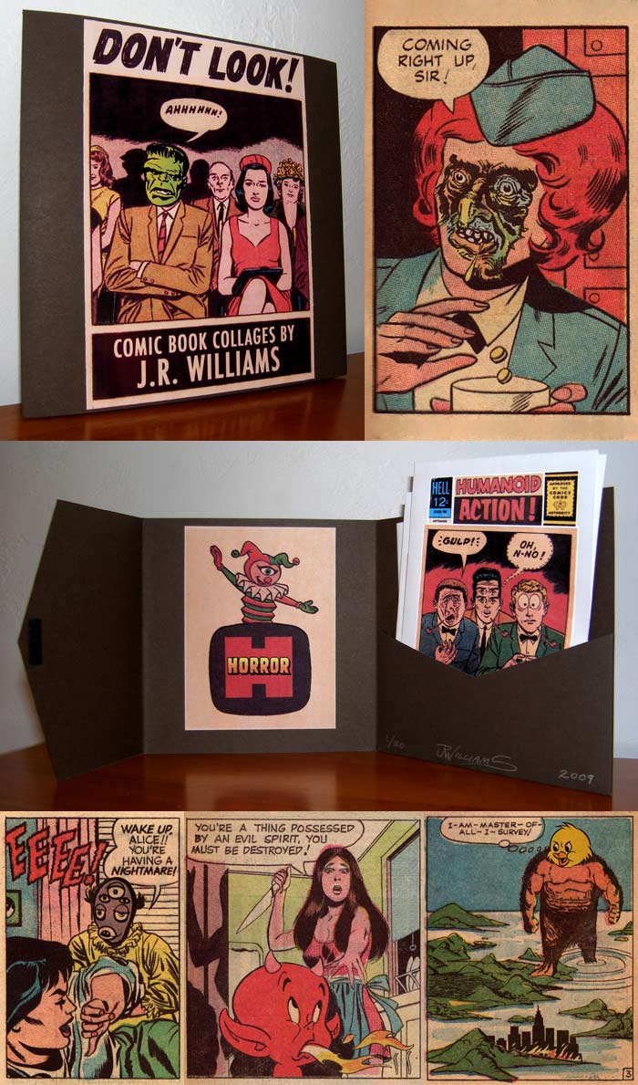 """Limited Edition Comics Collage Portfolio"" is copyright ©2008 by J.R. Williams.  All rights reserved.  Reproduction prohibited."