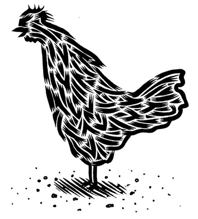 """Kapow Illo #2 - Chicken"" is copyright ©2008 by Eric Reynolds.  All rights reserved.  Reproduction prohibited."