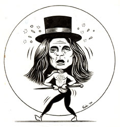 """David Lee Roth"" is copyright ©2008 by Eric Reynolds.  All rights reserved.  Reproduction prohibited."