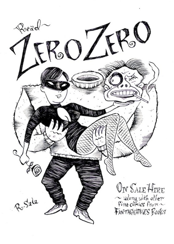 """Zero Zero Ad Alternative Original Art"" is copyright ©2008 by Richard Sala.  All rights reserved.  Reproduction prohibited."