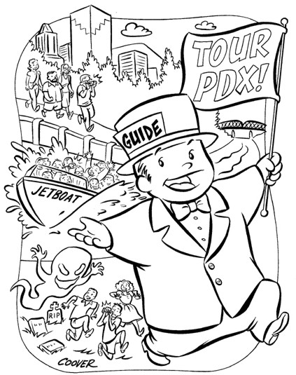 """Tour Portland"" is copyright ©2008 by Colleen Coover.  All rights reserved.  Reproduction prohibited."
