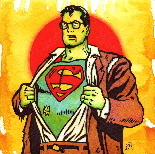 """Zombie Superman"" is copyright ©2008 by J.R. Williams.  All rights reserved.  Reproduction prohibited."