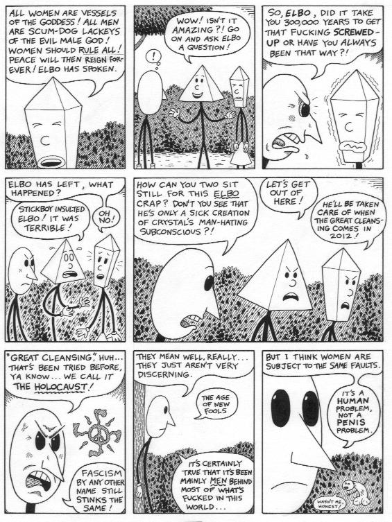 """Stickboy #3 page 2"" is copyright ©2008 by Dennis Worden.  All rights reserved.  Reproduction prohibited."