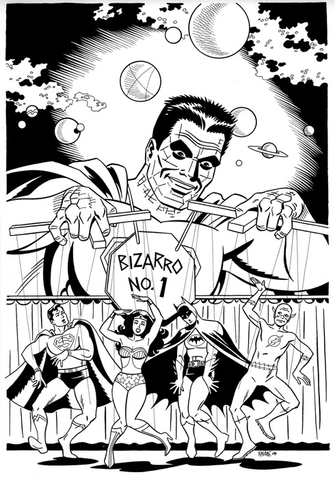 """Bizarro World cover"" is copyright ©2008 by Jaime Hernandez.  All rights reserved.  Reproduction prohibited."