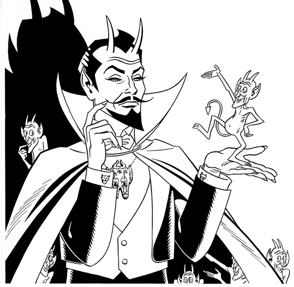 """The Devil in the Comics - cover"" is copyright ©2008 by Jaime Hernandez.  All rights reserved.  Reproduction prohibited."