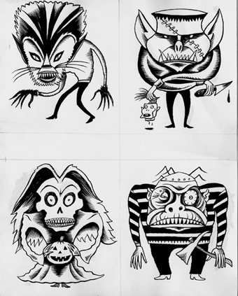 """Evil Eye Monsters"" is copyright ©2008 by Richard Sala.  All rights reserved.  Reproduction prohibited."
