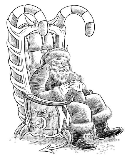 """SATAN CLAUS"" is copyright ©2008 by Jeremy Eaton.  All rights reserved.  Reproduction prohibited."