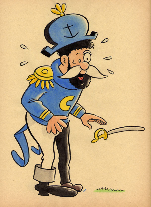 """CARTOON JUMBLE! CAP'N CRUNCH & CAPT. HADDOCK"" is copyright ©2008 by Jeremy Eaton.  All rights reserved.  Reproduction prohibited."