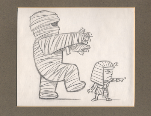 """PHARAOH BOY & MONSTER MUMMY"" is copyright ©2008 by Jeremy Eaton.  All rights reserved.  Reproduction prohibited."